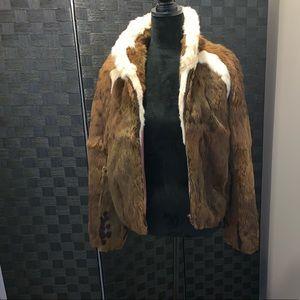 Jackets & Blazers - Fur bomber coat
